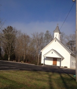 Sweet Methodist church we passed that was playng hymns from its belfry.